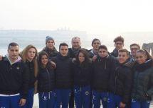 Danieli con i ginnasti durante una giornata a Venezia