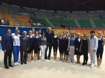 Malagò in visita al PalaDesio prima dei Giochi di Rio